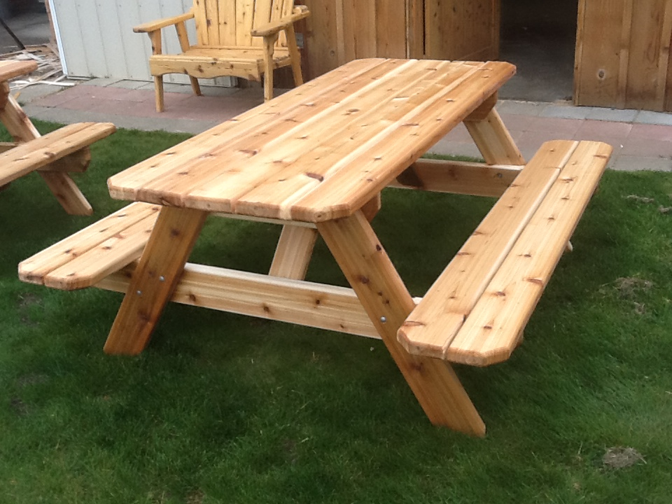 six foot picnic table with attached benches my picnic tables are super ...