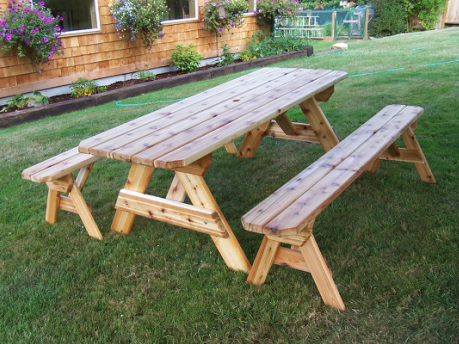 plans for picnic tables with separate benches | Woodworking Project ...